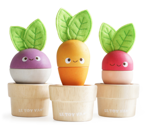 Le Toy Stacking Veggies wooden toys